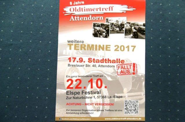 Oldtimertreff Attendorn - Elspe Treff anmelden