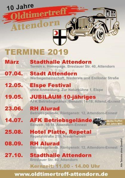 Termine Oldtimertreff - Attendorn 2019