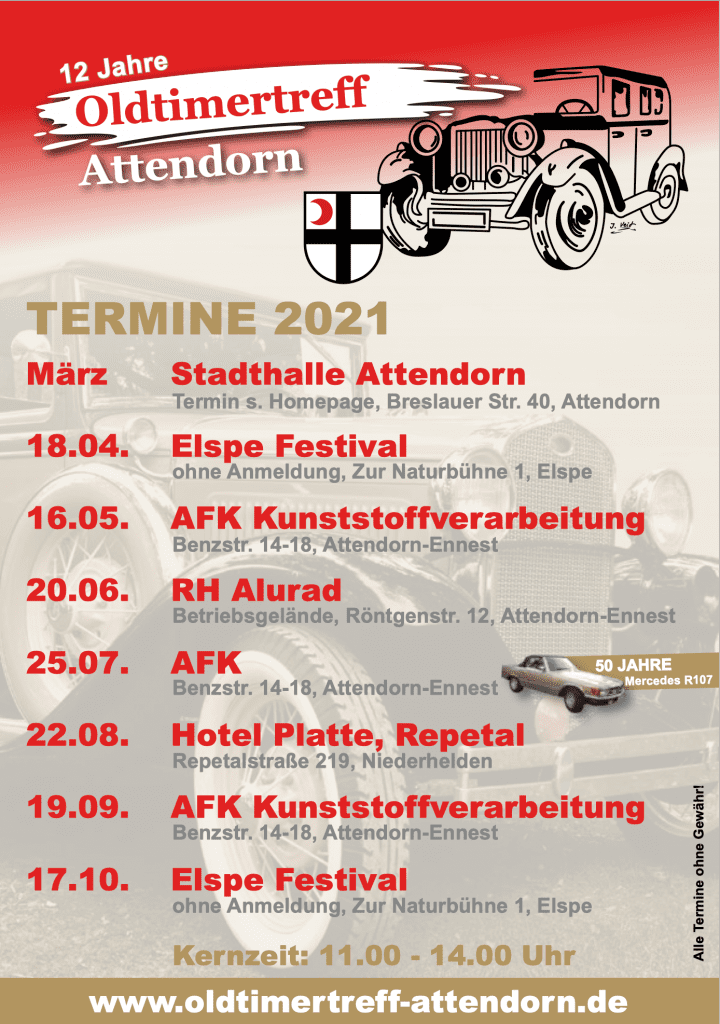 Termine 2021 - Oldtimertreff Attendorn