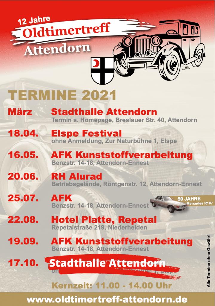 Oldtimertreff Attendorn-Termine 2021